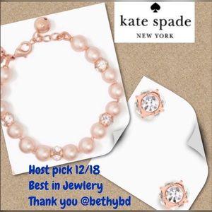 Kate Spade  lady Marmalade bracelet & Earrings set